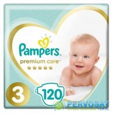 Подгузник Pampers Premium Care Midi Размер 3 (6-10 кг), 120 шт (4015400465461)