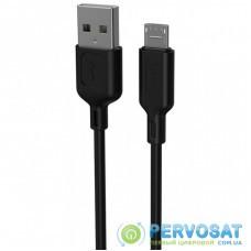 Дата кабель USB 2.0 AM to Micro 5P 1.2m Fast T-M829 T-Phox (T-M829 Black)