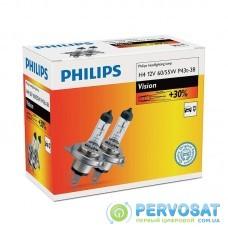 Лампа галогенна Philips H4 Vision, 3200K, 2шт/картон