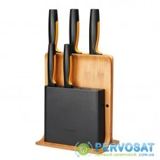 Набір ножів з бамбуковою підставкою Fiskars FF, 5 шт