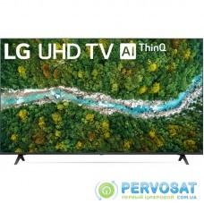 """Телевiзор 55"""" LED 4K LG 55UP77006LB Smart, WebOS, Сiрий"""