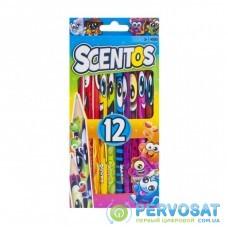 Карандаши цветные Scentos Ароматные карандаши ФАНТАЗИЯ 12 цв. (40515)