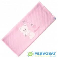 Детское одеяло Breeze с мишкой (64291-pink)