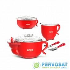 Набор детской посуды Neno Polpo голубой (5902479672281)