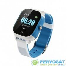 Смарт-часы GoGPS К23 blue/white Детские телефон-часы с GPS треккером (K23BLWH)