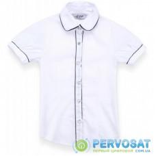 Блузка A-Yugi с коротким рукавом (1576-128G-white)