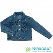 Пиджак Toontoy джинсовый с потертостями (6108-128G-blue)