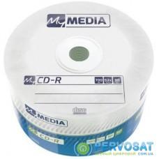 Диск CD MyMedia CD-R 700Mb 52x MATT SILVER Wrap 50 (69201)