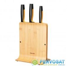 Набір ножів з бамбуковою підставкою Fiskars FF, 3 шт