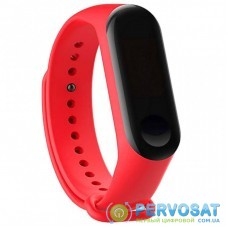 Ремешок для фитнес браслета BeCover Silicone для Xiaomi Mi Band 3/4 Red (704648)