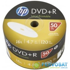 Диск DVD HP DVD-R 4.7GB 16X IJ PRINT 50шт (69302/DME00070WIP-3)