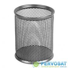 Подставка для ручек Axent round 80х80х100мм, wire mesh, silver (2110-03-A)