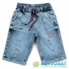 Шорты A-Yugi джинсовые на резинке (2757-134B-blue)