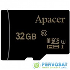 Карта памяти Apacer 32GB microSDHC class 10 UHS-I (AP32GMCSH10U1-RA)