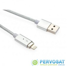 Дата кабель USB 2.0 AM to Lightning 1.0m Vinga (Magnetic Lightning)