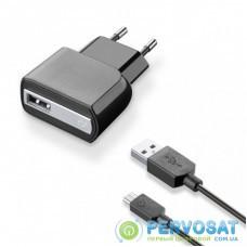 Зарядное устройство 1*USB 1A + cable 1m MicroUSB CellularLine (ACHUSBKITMICROUSB2)