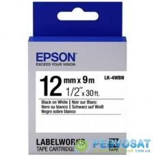 Лента для принтера этикеток EPSON LK4WBN (C53S654021)