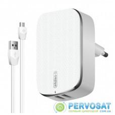 Зарядное устройство Intaleo TCG242 (2USB2,4A) + Micro USB cable (white) (1283126477461)