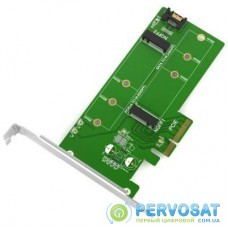 Контроллер Maiwo Multi-Size PCIex4 & SATA to M.2 (M-Key or B-key) KT015 SSD (45774)
