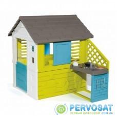 Игровой домик Smoby Радужный с летней кухней (810711)