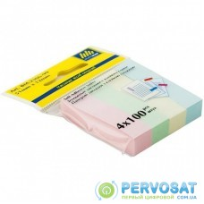 Стикер-закладка Buromax Plastic bookmarks 51x12mm, 4*100шт, rectangles,pastel colors (BM.2306-99)