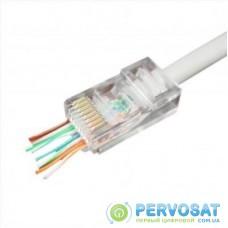 Коннектор Cablexpert RJ45 cat.5e UTP 8P8C (сквозное отв., позолоч. конт.) 50 шт (LC-PTU-01/50)