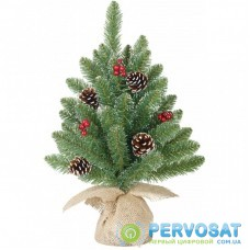 Искусственная сосна Black Box Trees Creston Frosted зеленая с декоративными шишками и ягодами, 0 (8718861153040)
