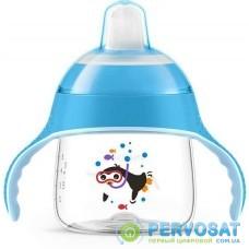 Чашка-непроливайка Avent з м'яким носиком блакитна 200 мл 6+ 1 шт. SCF751/05