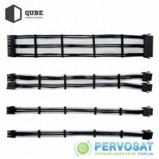 Кабель Qube для блока питания QUBE 1*24P MB, 2*4+4P CPU,2*6+2P VGA Bla (QBWSET24P2x8P2x8PBW)