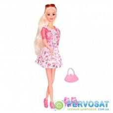 Кукла Ася блондинкаврозовомплатье (35070)