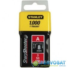 Скобы Stanley Light Duty тип а, 8мм, 1000шт (1-TRA205T)