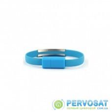 Дата кабель USB 2.0 AM to Micro 5P 0.2m браслет blue Extradigital (KBU1784)
