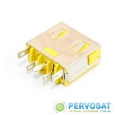 Разъем питания ноутбука для Lenovo PJ578 (rectangle + center pin) универсальный (A49057)