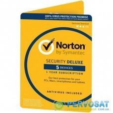 Антивирус Norton by Symantec NORTON SECURITY DELUXE 5D 2 Year 5 Device ESD key (21390892)
