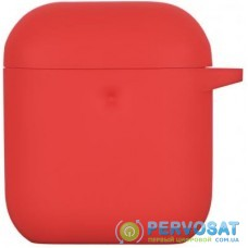 Чехол 2E для Apple AirPods Pure Color Silicone 3.0 мм Red (2E-AIR-PODS-IBPCS-3-RD)