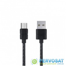Дата кабель USB 2.0 AM to Micro 5P 1.0m L21 Black PURIDEA (L21-Micro-USB Black)