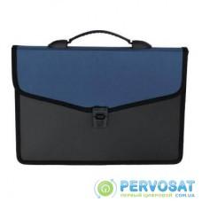 Папка - портфель Buromax 3 compartments, with a lock, blue (BM.3734-02)