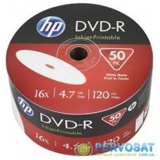 Диск DVD HP DVD+R 4.7GB 16X IJ PRINT 50шт (69304)