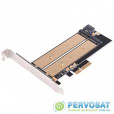 Плата расширения Silver Stone PCIe x4 до SSD m.2 SATA та NVMe (SST-ECM22)