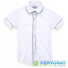 Блузка A-Yugi с коротким рукавом (1576-140G-white)
