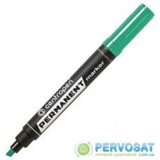 Маркер Centropen Permanent 8576 1-4,6 мм, chisel tip, green (8576/04)