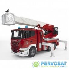 Спецтехника Bruder Большая пожарная машина Scania R-series с лестницей М1:16 (03590)