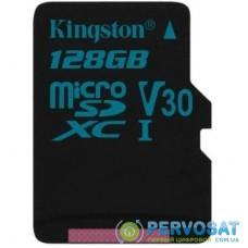 Карта памяти Kingston 128GB microSD class 10 UHS-I U3 Canvas Go (SDCG2/128GB)
