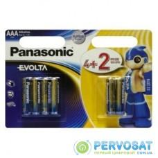 Батарейка PANASONIC AAA LR03 Evolta * 6(4+2) (LR03EGE/6B2F)