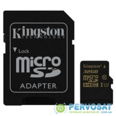 Карта памяти Kingston 32GB microSDHC class 10 UHS-I U3 4K (SDCG/32GB)
