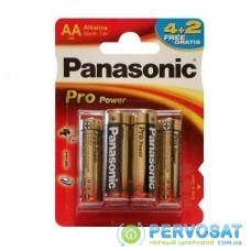 Батарейка PANASONIC AA LR06 PRO POWER * 6(4+2) (LR6XEG/6B2F)