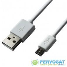 Дата кабель Grand-X USB - Micro USB, Cu, 2.1A, White, 1m (PM01W)
