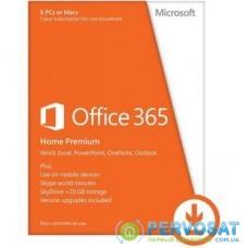 Программная продукция Microsoft Office 365 Home 32/64 AllLngSub PKLic 1YR Online CEE C2R NR (6GQ-00084)