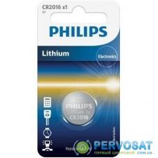 Батарейка PHILIPS CR2016 PHILIPS Lithium (CR2016/01B)