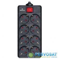 Сетевой фильтр питания REAL-EL REAL-EL RS-8 PROTECT, 1.8m, black (EL122300021)